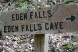 Sign for Eden Falls (Lost Trail)