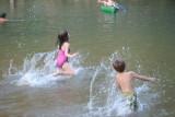 Helen/Adrian in Water at Lower Pruit