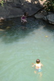 Adrian in Falling Water Waterfalls