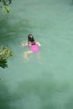 Helen in Falling Water Waterfall