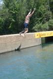 Me Jumping In At Ponca Access Bridge