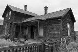Bodie ghost town in black & white