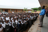 Visit of the George Mhaule Primary School at Numbi a village near the Kruger NP