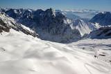 Au sommet du Zugspitze le plus haut sommet des Alpes allemandes