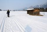 Balade dans la neige près du village de Schwangau