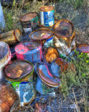 Discarded Paint Cans