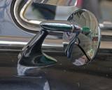 Inside Buffalo Air-Mirror on Old Car