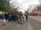 Gaborone burning building