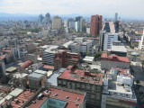 Mexico city view from hilton hotel