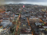 Mexico city view from torre Latinoamericana looking north