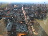 Mexico city view from torre Latinoamericana looking south