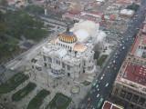 Mexico city palace of fine arts from torre Latinoamericana