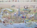 Dubai mall map on display