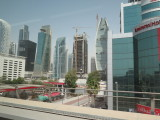 Dubai view from metro train