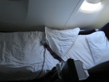 my bed Virgin Australia flight Sydney to Los Angeles in business class