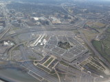 Washington DC flying over the Pentagon