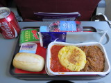 Qantas meal in economy Perth to Melbourne