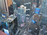 New York City view from 35th floor of the Doubletree suites Times Square