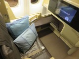 Singapore airlines business class seat on a Boeing 777-200