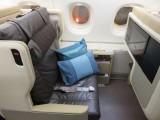 Singapore airlines business class seat on a Airbus  A380-800