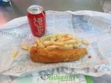 Johannesburg fish and chips at Sandton mall