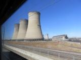 Johannesburg passing the Kelvin power station on the Gautrain