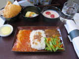 breakfast on Garuda Bali to Jakarta flight in business class
