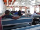 on the ferry between Anguilla and Marigot