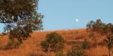 Sunrise and moonset between Antsirabe and Morondava