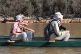 Onboard the canoes in the Manambolo Gorge