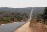 The long road heading north at Zombitse NP