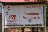 Welcome board for Zombitse Vohibasia NP