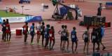 Lining up for men's 5000m start