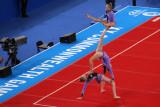 Entertainment from junior acrobatics team
