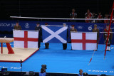 The flags for the pommel horse result