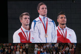 The pommel horse medal ceremony