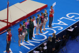 The finalists for the women's uneven bars