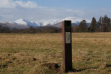 Information board for Loch Lomond NNR at Woodend