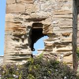 Eroded stonework in Culzean Castle gardens
