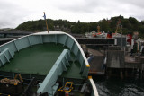Closing the visor on the ferry boat