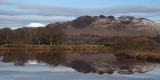 Ben Lomond and Conic Hill reflected in the Endrick Water