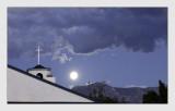 Moon over Bishop CA