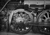 Locomotive Detail in B&W