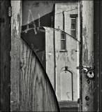 Battered Mirrored Door