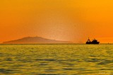 Trawling in the sunset