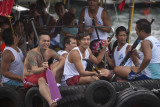 dragon boat team on sampan