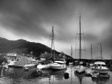 a cold but beautiful winter's evening in the Typhoon Shelter