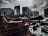 afternoon rain in the Typhoon Shelter
