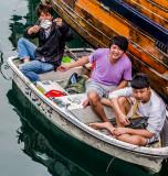 Sunday fishermen, Aberdeen Typhoon Shelter