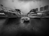 heavy rain in the Typhoon Shelter